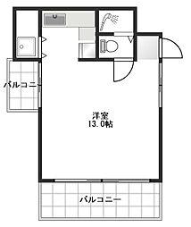 オンダスタジオマンション[202号室]の間取り