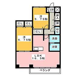 ヴァンクール21[2階]の間取り