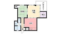 武庫川ハピネス[3階]の間取り