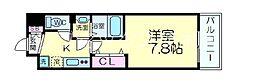JR東海道・山陽本線 JR総持寺駅 徒歩8分の賃貸マンション 2階1Kの間取り