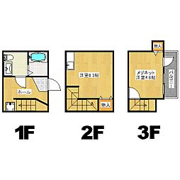メゾネ・クレアール東寺[3階]の間取り