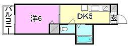 KBコート土居田2[306 号室号室]の間取り