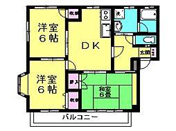 プリンスハイツ 1階3DKの間取り