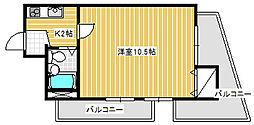 ライオンズマンション川崎駅南[501号室]の間取り