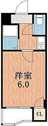 大阪府大阪市阿倍野区阿倍野筋5の賃貸マンションの間取り