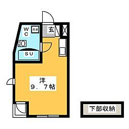 フジメゾン矢作[1階]の間取り