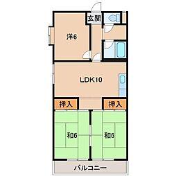 畑野マンション[1階]の間取り