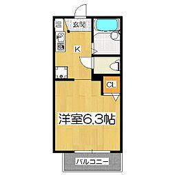 ラプラス竹鼻III[1階]の間取り