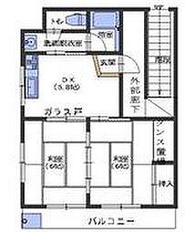 広島県呉市阿賀中央2丁目の賃貸アパートの間取り