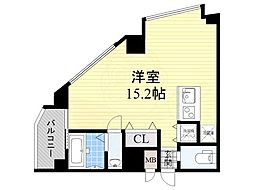 大阪モノレール本線 少路駅 徒歩7分の賃貸マンション 3階ワンルームの間取り