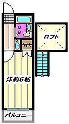 埼玉県川口市上青木西1丁目の賃貸アパートの間取り