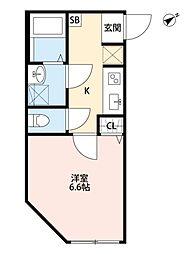 マツドシンデンハッピーハウス[303号室号室]の間取り