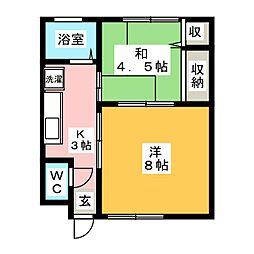 池上アパート[1階]の間取り