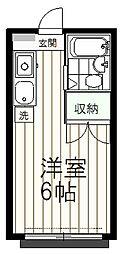 東京都日野市南平9丁目の賃貸アパートの間取り
