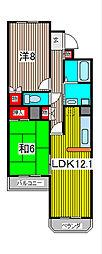 ファラオ・イン・浦和[4階]の間取り