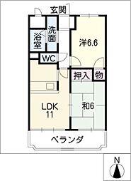 CREST1[9階]の間取り
