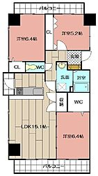 THE SQUARE・Suite Residence[3階]の間取り