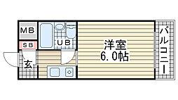 ダイドーメゾン岡本[309号室]の間取り