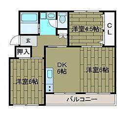 相武台団地[4階]の間取り