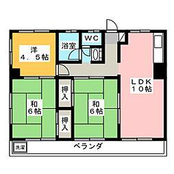 日鶴ビル[3階]の間取り