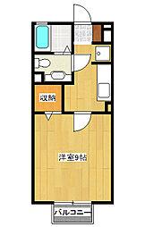 ハニーコート[2階]の間取り