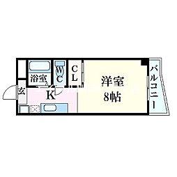 パルティール21[5階]の間取り
