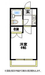 ランドハウス[1階]の間取り