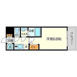 エスリード新大阪ヴェルデ 5階1Kの間取り