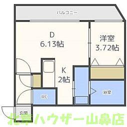 クラークサイドSAPPORO(クラークサイド札幌)[4階]の間取り