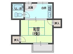 前川ハイツ[202号室]の間取り