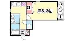 アビタ神戸元町[1階]の間取り