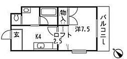 菖蒲池コーポ[4階]の間取り
