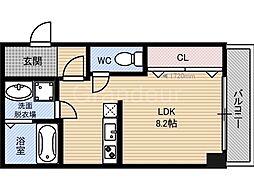 クライス横堤[3階]の間取り