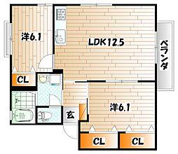 プリマヴェーラ B棟[2階]の間取り
