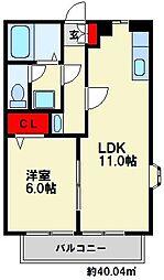 若草ハイツ[2階]の間取り