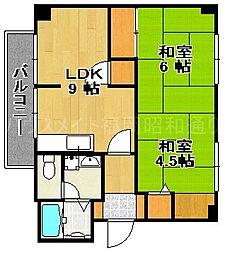 ボタニカルガーデンズアパートメント[3階]の間取り