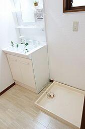 洗面台新品&洗濯機スペース