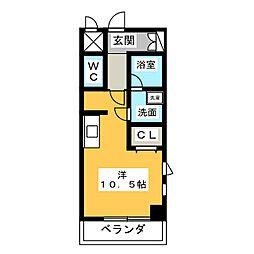 アクアアルファ[5階]の間取り