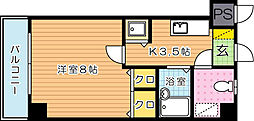 ピエドラブランカ西本町[6階]の間取り