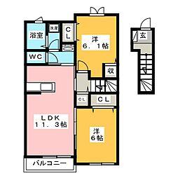 ペルマネンテA[2階]の間取り