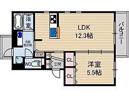 ツーモア茨木[3階]の間取り