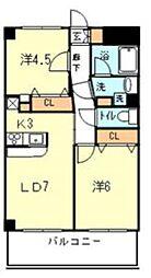 リビエール宮崎台[3階]の間取り
