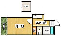 アベニュー太宰府[106号室号室]の間取り