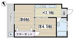染井マンション[405号室]の間取り