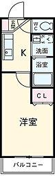 愛知県安城市住吉町5の賃貸アパートの間取り
