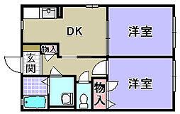 エスポワール A棟[A202号室]の間取り