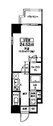 Osaka Metro堺筋線 扇町駅 徒歩8分の賃貸マンション 5階1Kの間取り