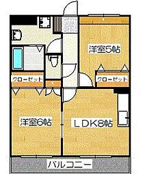 ベルメゾンきらら[1階]の間取り