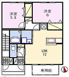 グランドゥール飾東[1階]の間取り
