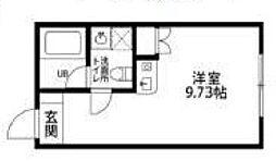 都営大江戸線 西新宿五丁目駅 徒歩10分の賃貸マンション 4階ワンルームの間取り